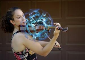 sound bubble and violin (image: John Stuart Reid)